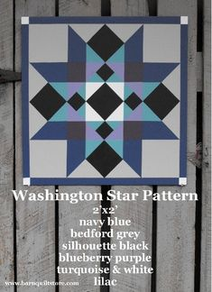 Painted Wood Barn Quilt Washington Star by TheBarnQuiltStore, $80.00