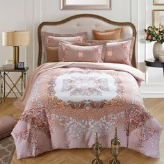 Boho bed linen winter bedding set king size Home Paisley Printing Pattern, Percale 100 Cotton Queen Duvet Cover Set