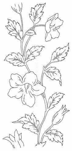 New embroidery vintage flowers colour 17 Ideas Embroidery Flowers Pattern, Hand Embroidery Designs, Vintage Embroidery, Embroidery Art, Embroidery Stitches, Stencil Patterns, Craft Patterns, Painting Patterns, Fabric Paint Designs