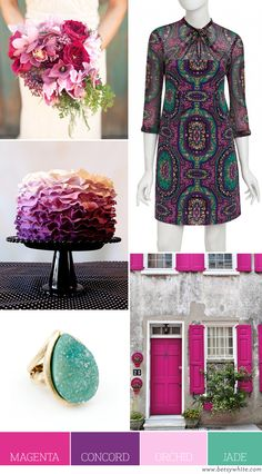 Color Palette: Magenta, Concord, Orchid and Jade | Flights of Fancy