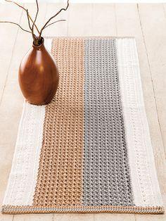 Blue Ribbon Crochet table runner pattern