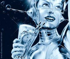 Future, Female Androids' Shapes & Anatomy, retro-futuristic, cyber girl, robot girl, science fiction art