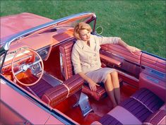 The 1961 Buick Flamingo's rotating seat allows you to do to a 180