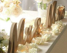 Sweetheart Table Decor Mr and Mrs sign Valentine Day Gift   Etsy Wedding Photo Table, Wedding Chair Signs, Wooden Wedding Signs, Wedding Chairs, Sweet Heart Table Wedding, Wooden Signs, Wedding Tables, Wedding Reception, Wooden Letters