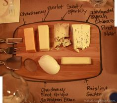 Wine Party - Cheese Map!  KristiSmithson.com