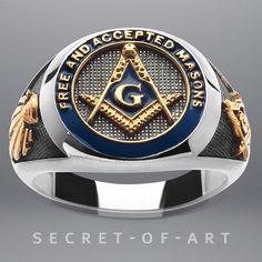 F. & A.m. Maçônico Anel De Prata 925 Com Esmalte Azul 24K-Peças Banhado A Ouro | Joias, bijuterias e relógios, Joias finas, Anéis finos | eBay!