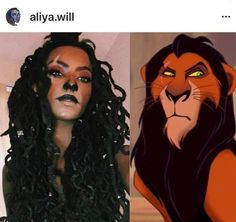 Scar from lion king Scar Halloween Costume, Disney Halloween Makeup, Black Girl Halloween Costume, Halloween Makeup Looks, Halloween Outfits, Halloween Ideas, Holiday Makeup, Halloween 2020, Happy Halloween