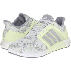 adidas Running Solar Boost W (Halo/Silver Metallic/Clear Onix) Women's... (325 BRL) ❤ liked on Polyvore featuring shoes, athletic shoes, adidas shoes, fleece-lined shoes, adidas athletic shoes, breathable running shoes and running shoes