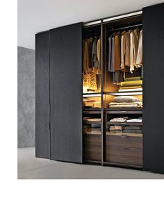 53 Elegant Closet Design Ideas For Your Home. Unique closet design ideas will definitely help you utilize your closet space appropriately. An ideal closet design is probably the only avenue . Wardrobe Design Bedroom, Closet Bedroom, Closet Wall, Bedroom Storage, Bedroom Doors, Master Closet, Bedroom Wall, Bedroom Ideas, Hanging Wardrobe