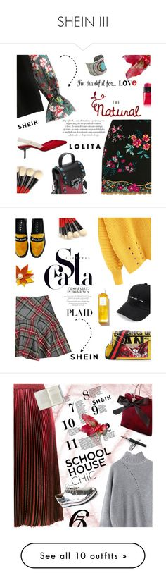 """SHEIN III"" by lacas ❤ liked on Polyvore featuring Topshop, Yves Saint Laurent, MANGO, thanksgiving, shein, Joshua's, Rodin, plaid, Aspinal of London and TBA"