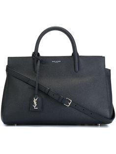 SAINT LAURENT Small 'Rive Gauche' Tote. #saintlaurent #bags #shoulder bags #hand bags #leather #tote #