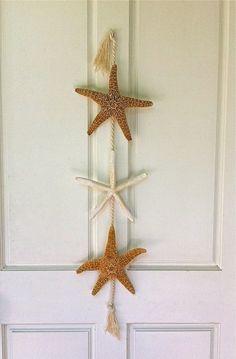 Beach Decor -Starfish Door Hanging. $32.00, via Etsy.- I think I could make this