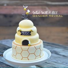 What will it BEE gender reveal cake tutorial