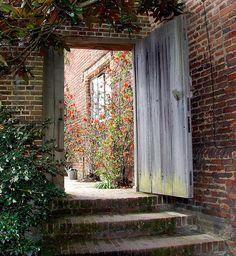 garden gate into top courtyard-imagine having a top courtyard......