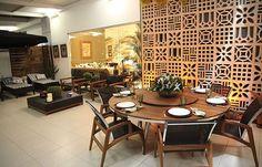 O cobogó pode ser usado como divisória de qualquer cômodo da casa, como sala, home-office, varanda e cozinha  (Reprodução/barracotorto.blogspot  )