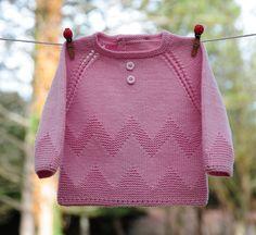 layette brassière 3 mois en mérinos rose neuf tricoté main : Mode Bébé par com3pom