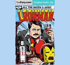 """""""I, Ron Man"""" by boltfromtheblue is available on #TeeFury."""