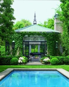 What a beautiful pool,poorhouse! Blake Jamieson via The Above Ground Pool Builder onto Pools