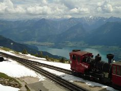 the beautiful view from Schafberg in Austria Austria, Notes, Spaces, Mountains, Nature, Beautiful, Train, The Great Outdoors, Mother Nature