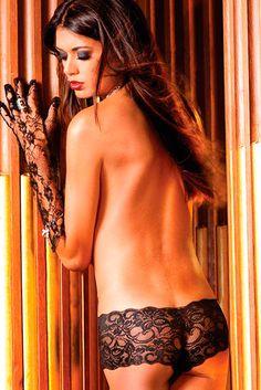 Detalle Culotte de Encaje Transparente Negro Baci Lingerie en Pardal Sense  Ales 7c901b35a6b9