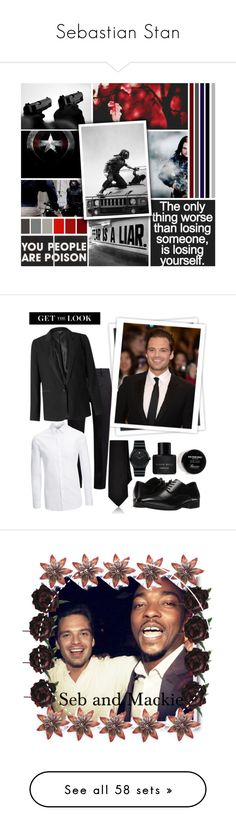 """Sebastian Stan"" by fashion12347 ❤ liked on Polyvore featuring art, Sebastian Professional, GALA, Marni, Miss Selfridge, Joseph, Barneys New York, Stacy Adams, Movado and Kenneth Cole"
