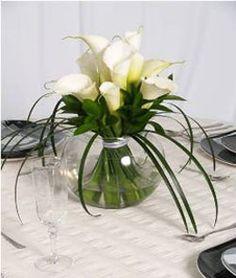 wedding centerpieces with calla lilies | Wholesale Roses > Wedding Table Centerpiece Calla Lily 3