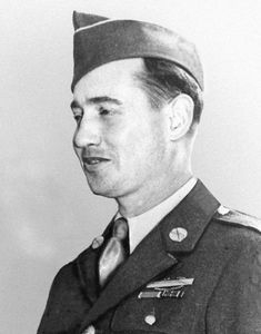 "William Adolph Soderman (1912-1980) was a United States Army soldier and a recipient of the Medal of Honor for his actions during the Battle of the Bulge on December 17 1944. Citation: ""Armed with a bazooka he defended a key road junction near Rocherath Belgium on 17 December 1944 during the German Ardennes counteroffensive. After a heavy artillery barrage had wounded and forced the withdrawal of his assistant he heard enemy tanks approaching the position where he calmly waited in the…"