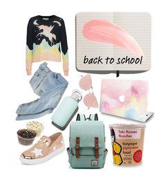 """#backtoschool"" by kirac on Polyvore featuring Shinola, Wildfox, Balmain, Wild Diva, bkr and So.Ya"