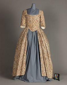 Woman's Dress (Robe à l'anglaise), England, late 18th Century Dress, 18th Century Costume, 18th Century Clothing, 18th Century Fashion, 17th Century, 1700s Dresses, Day Dresses, Historical Costume, Historical Clothing