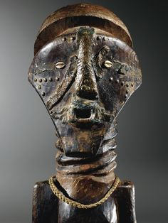 Africa   Ancestor effigy (detail) from the Songye people of DR Congo   Wood, metal, shells, fiber   2nd half of the 19th century