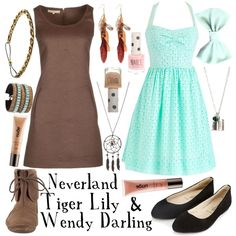 """Tiger Lily and Wendy"" by totallytrue on Polyvore"