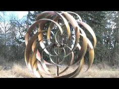 Kinetic Garden Wind Spinners | Solutions.com - YouTube