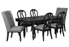 Laurel 7 Piece Dining Set W/Oak Side Chairs