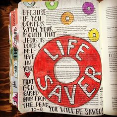 Romans 10:9 #mylifesaver #thankyoujesus #romans109 #illustratedfaith…