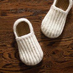 Mens house shoe crochet pattern