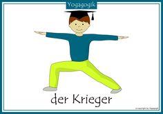 Yoga for Kids Flashcards Warrior Sensory Motor, Yoga For Kids, Motor Activities, Kids Sports, Primary School, Asana, Yoga Meditation, Kids House, Pilates