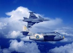 Saab J 29 and JAS 39 Gripen