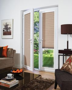 Should I Get Patio Doors With Built In Blinds . 26 Good And Useful Ideas For Front Door Blinds Interior . Living Room Window Blinds And Shades Steve's Blinds . Home and Family French Door Windows, Blinds For French Doors, French Door Curtains, French Doors Patio, Blinds For Windows, Windows And Doors, Window Blinds, Upvc Windows, Blinds For Patio Doors