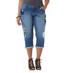 0d821c69932 Simply Emma Woman Stretch Deconstructed cropped jeans 16W 18W 20W 22W 24W  NEW  SimplyEmma
