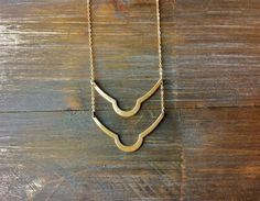 Rustic Brass Bar Necklace / Minimalist Bohemian by FableAndLore, $27.00