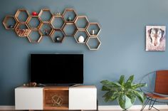 Remodelaholic   95 Ways to Hide or Decorate Around the TV, Electronics, and Cords