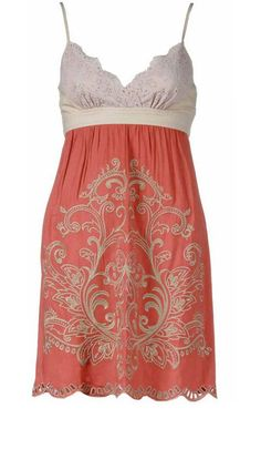 Add a little cover up to this sundress and it would be perfect. I love the coral color.