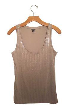 Ann Taylor Gray Sequin Tank #stellasaksa #anntaylor #tank #gray #sequin