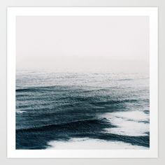 Ocean waves Art Print by Of Monsters. Worldwide shipping available at Society6.com. Just one of millions of high quality products available.