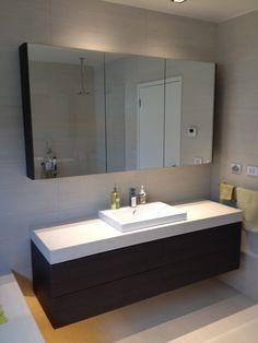 What Is Trending Now, Croydon, Grey Oak, Classic White, Double Vanity, Showroom, Bathrooms, Facebook, Website
