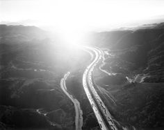 Golden State Freeway/San Fernando Pass; from Los Angeles 02.12.04, by Michael Light - 20x200 (From $60)