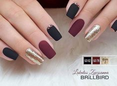 """If you're unfamiliar with nail trends and you hear the words """"coffin nails,"""" what comes to mind? It's not nails with coffins drawn on them. It's long nails with a square tip, and the look has. Perfect Nails, Gorgeous Nails, Pretty Nails, Matte Nails, Red Nails, Hair And Nails, Matte Maroon Nails, Acrylic Nails, Elegant Nails"""