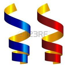 fond clair avec des décorations des rubans: serpentins vecteur Illustration