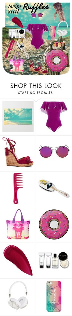 """""""Untitled #131"""" by fashionforwardfaith ❤ liked on Polyvore featuring Lisa Marie Fernandez, Aquazzura, Sephora Collection, Rock & Ruddle, Superdry, Round Towel Co., Lipstick Queen, Bobbi Brown Cosmetics, Frends and Casetify"""