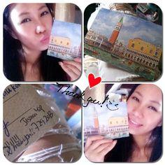 Thank you Sweetheart <3 I got it la!!!!  #postcard #travel #venice #hongkong #hk #art #sister #love #sweet #thankyou #kahyinlam